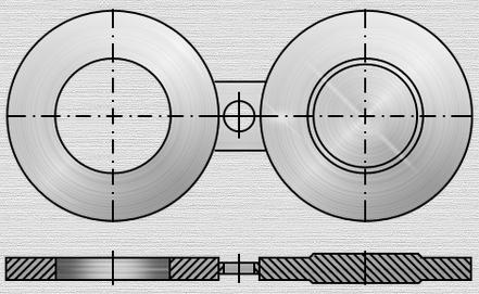 Чертеж плоской поворотной заглушки по Т-ММ-25-01-06