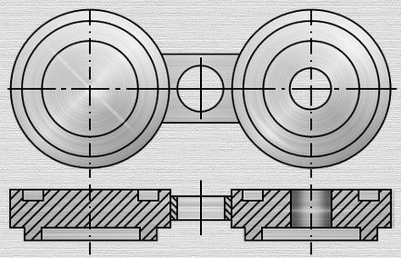 Чертеж поворотной заглушки типа шип-паз по Т-ММ-25-01-06