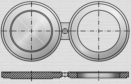 Чертеж поворотной заглушки типа выступ-впадина п Т-ММ-25-01-06